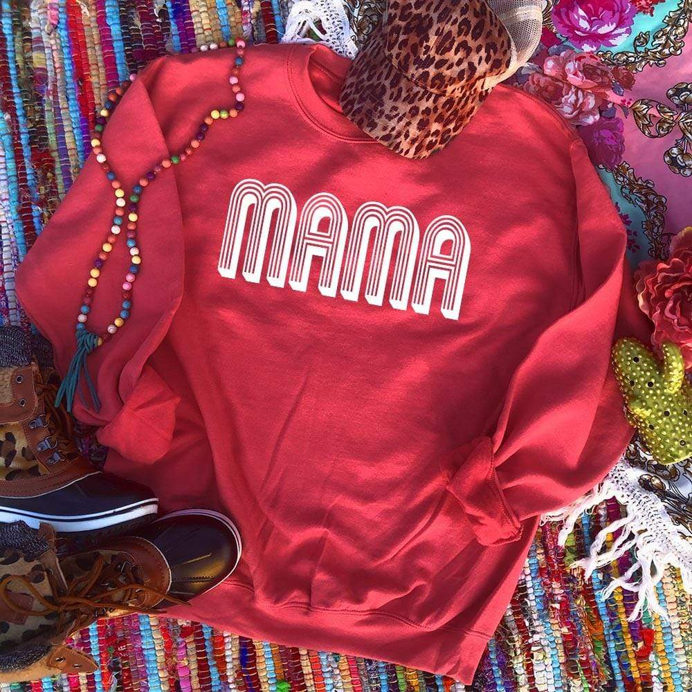 Shipping Dept. MAMA - Red Sweatshirt