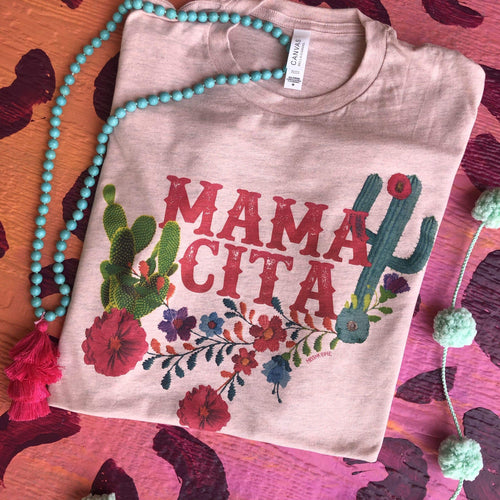 MISSMUDPIE Mamacita With Cactus  - Heather Peach