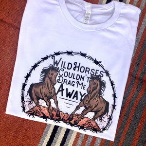 ASHTON Wild Horses Couldn't Drag Me Away - White