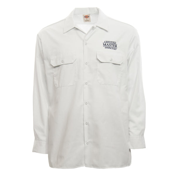 Certified Master Inspector® White Dickies Shirt