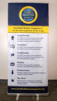 Certified Master Inspector® Banner and Retractable Stand