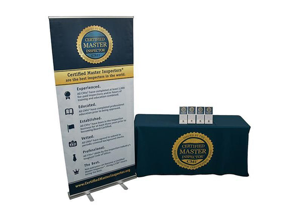 Certified Master Inspector® Banner, Tablecloth, and Rack Cards (200 CT) Package