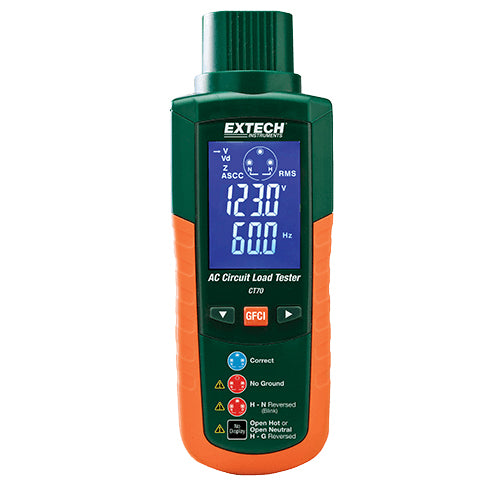 Extech CT70 GFCI and AC Circuit Analyzer