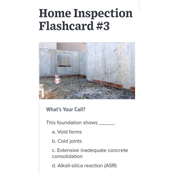 InterNACHI Residential Code Inspection Exam Prep Virtual Flash Cards