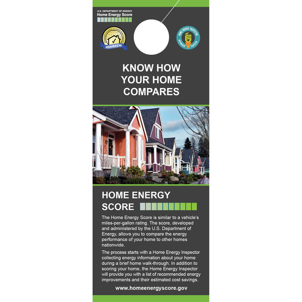 Home Energy Score Door Hangers (Pack of 50)
