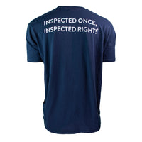 "InterNACHI® ""Inspected Once, Inspected Right!®"" Pocket T-Shirt"