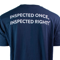 "InterNACHI® ""Inspected Once, Inspected Right! ®"" Pocket T-Shirt"