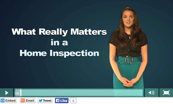What Really Matters in a Home Inspection Video on USB