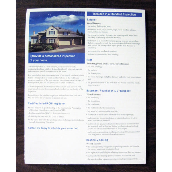 InterNACHI Marketing Flyer (Pack of 50)