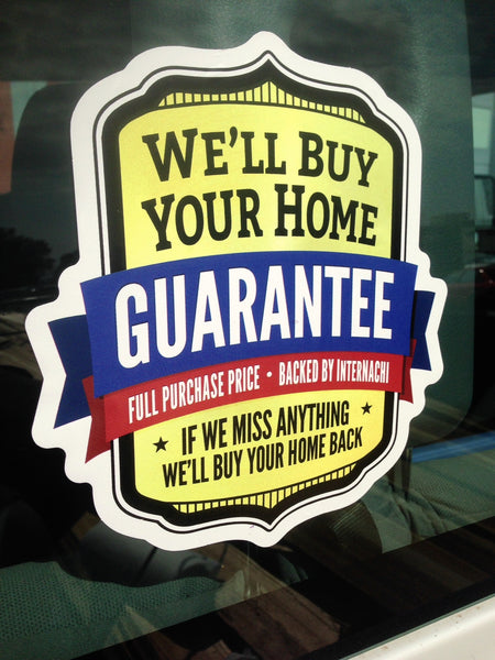 Free Buy Your Home Back Guarantee Decals