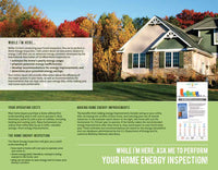 "Home Energy Inspection Brochure ""While I'm Here..."""
