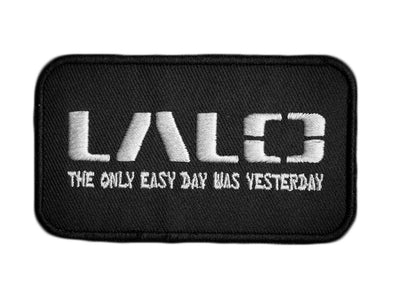 LALO Woven Patch with White | Accessories - LALO USA | Tactical and Athletic Footwear