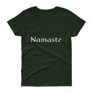 Women's short sleeve t-shirt -Namaste, Peace