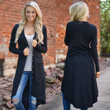 Women Loose Sweater Long Sleeve Knit Cardigan Outwear Jacket Coat