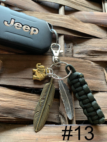 JEEP Paracord Key Chain- Black
