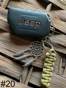 JEEP Paracord Key Chain- Beige
