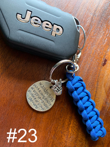 JEEP Paracord Key Chain- Blue