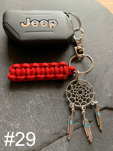 JEEP Paracord Key Chain- Red
