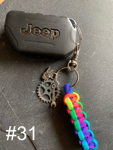 JEEP Paracord Key Chain- Rainbow