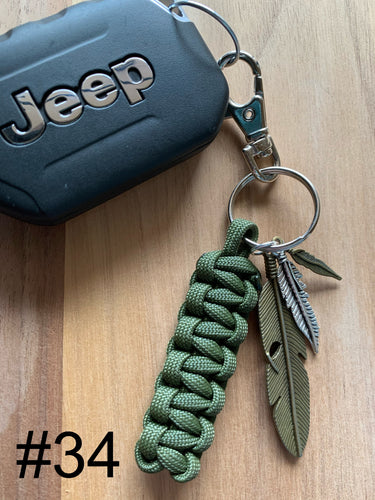 JEEP Paracord Key Chain- Dark Green