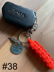 JEEP Paracord Key Chain- Bright Orange
