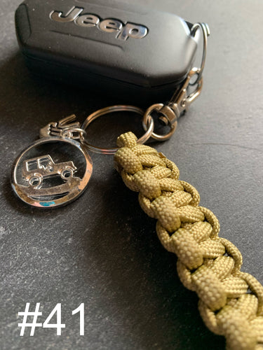 JEEP Paracord Key Chain- Dark Beige