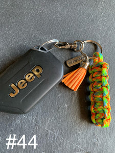 JEEP Paracord Key Chains- Orange, Blue, & Green