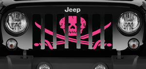 Ahoy Matey Hot Pink Pirate Flag Grille Insert