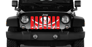 Ahoy Matey Pirate Flag - Red - Jeep Grille Insert