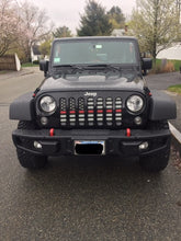 American Black and White Thin Red Line Jeep Grille Insert