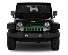 Black and Green American Flag Grille Insert