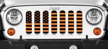 Black and Orange American Flag Jeep Grille Insert