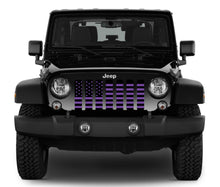 Black and Purple American Flag Grille Insert