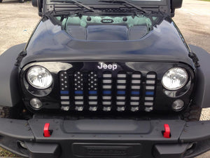 American Tactical Back the Blue Jeep Grille Insert
