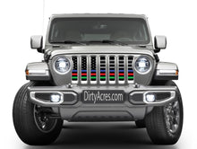 Hold the Line - Back the Blue, Red, Green Jeep Grille Insert