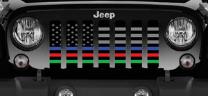 Hold the Line - Back the Blue, Red, Green Grille Insert