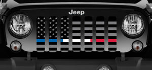 American Tactical - Back the Blue, Red and White - Jeep Grille Insert