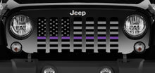 American Tactical Purple Line Jeep Grille Insert