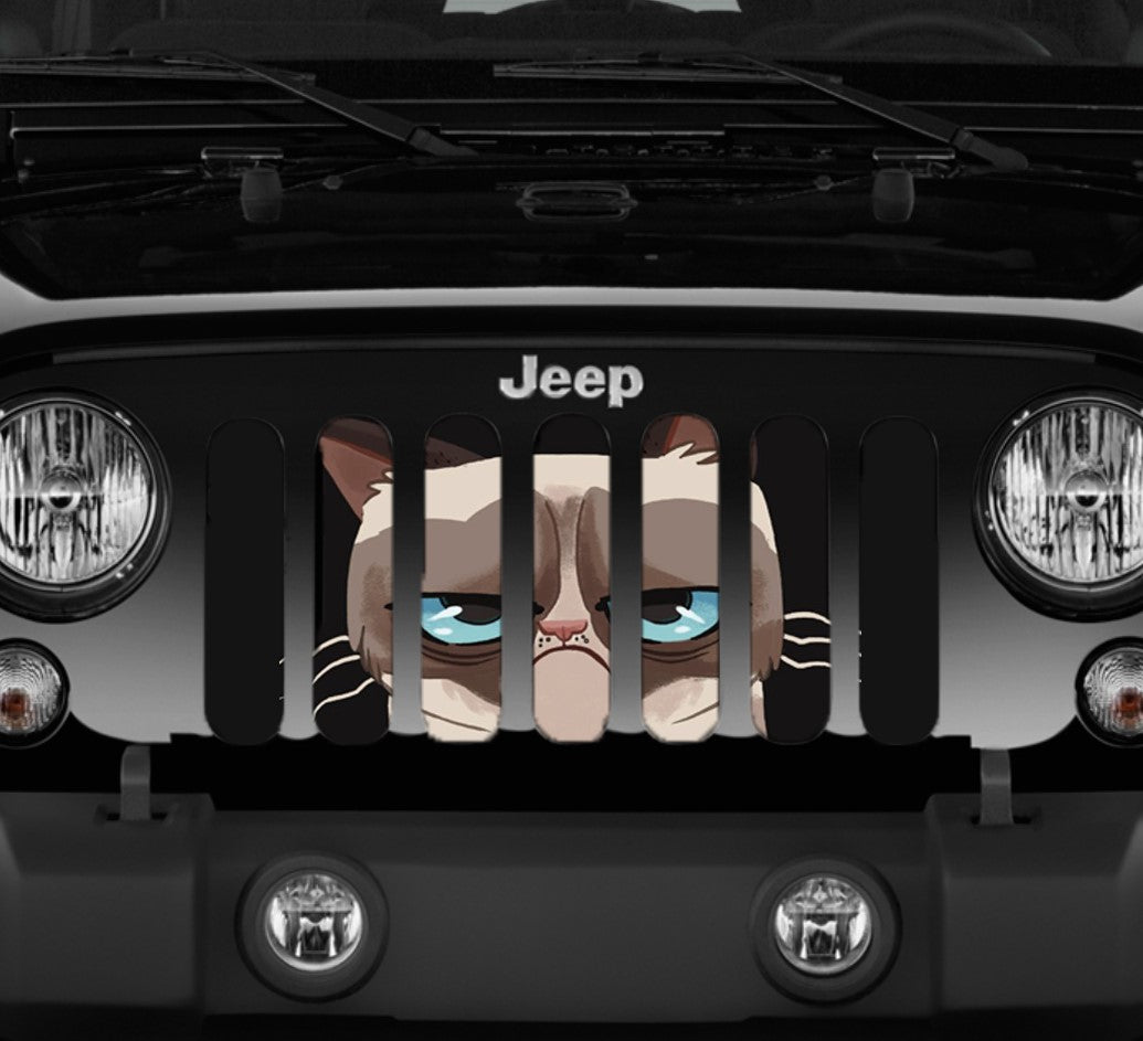 Jeep Wrangler Angry Cat Grille Insert Dirty Acres