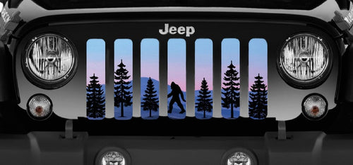 Bigfoot Purple Mountain Jeep Grille Insert