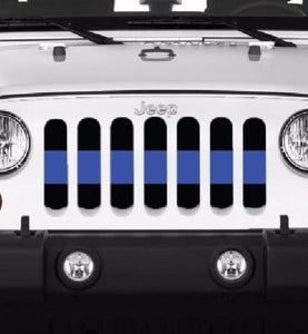 Back the Blue Line Grille Insert (Thin Blue Line)