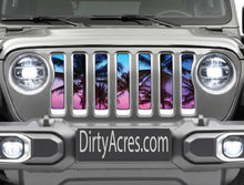 Beach Palm Tree Jeep Grille Insert