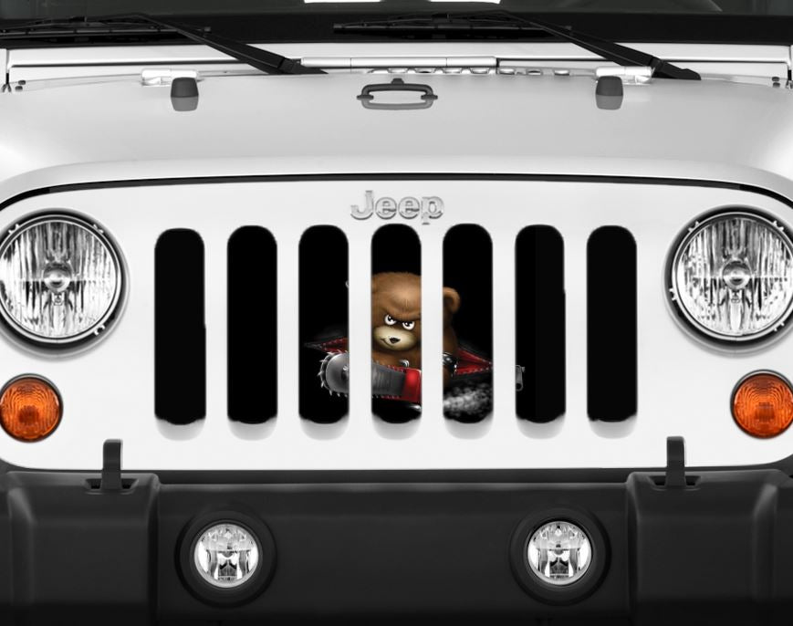 Beary Scary Jeep Grille Insert