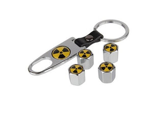 Valve Stem Covers with Key chain - Bio Hazard