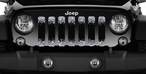 Black and Silver Fleck Print Jeep Grille Insert