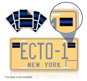 Back the Blue License Plate Decals - Set of 2