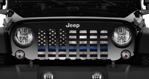 Blue Steel Jeep Grille Insert
