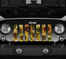 Bold Sunflower Jeep Grille Insert