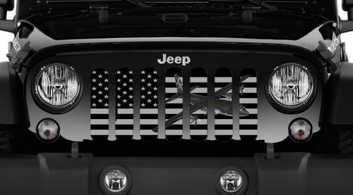 C130 Tactical American Flag Jeep Grille Insert