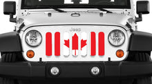 Canada, Eh? Red and White Canadian Grille Insert